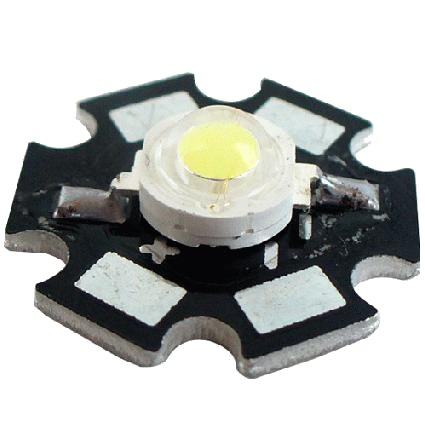 High Power Led - 1 Watt - 6500K auf 20mm Starplatine