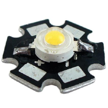 High Power Led - 1 Watt - 3000K auf 20mm Starplatine