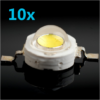 High Power Led - 1 Watt - 3000K (warmweiss) - 10 Stück