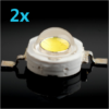 High Power Led - 1W - 6500K - 2 Stück