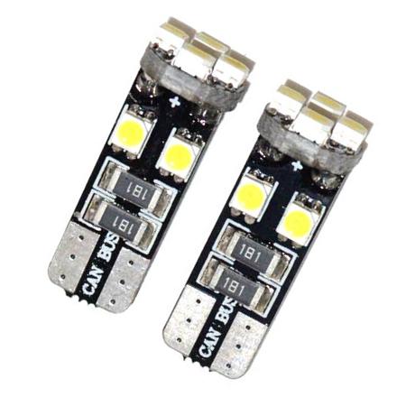 LED Lampe - T10 Sockel  - 12 Volt - weiß (6500K) - 2 Stück