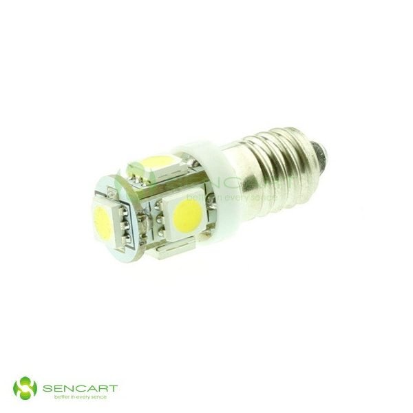 SMD LED Lampe - E10 - 12 Volt - 6500K (weiß) - klein