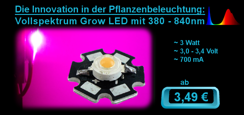 Pflanzen LED - 3 Watt