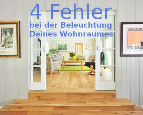 4 Fehler in der Wohnungsbeleuchtung.