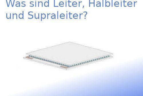 Leiter, Halbleiter und Supraleiter leiten elektrischen Strom.