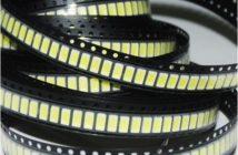 5050 SMD LED Chips auf einer Rolle.