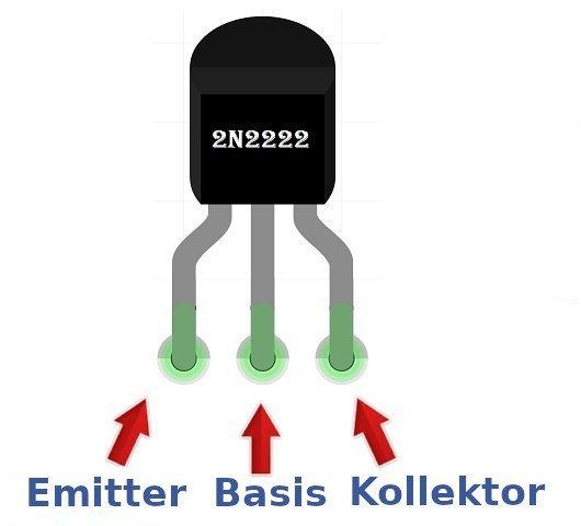 Der 2N2222 Transistor ist einer der am häufigsten verwendeten Transistoren.