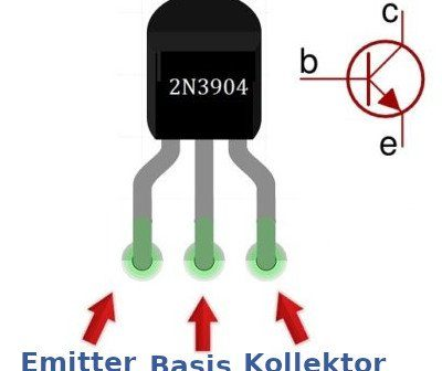 Pinbelegung des 2B3904 NPN-Transistor.