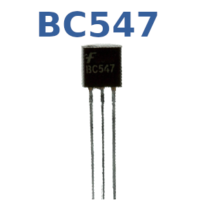 BC547 in TO-92 Bauform.