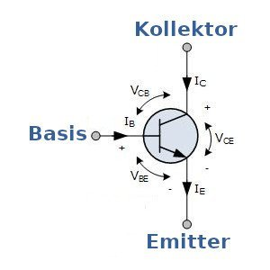 Funktionsprinzip des BC547 NPN Bipolartransistor.