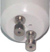 GU10 Anschlüsse eines LED-Spots.