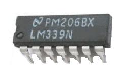 Ein LM339 ist ein variabler Spannungskomparator.