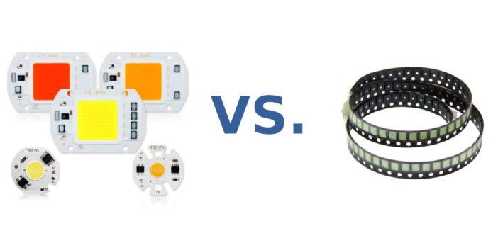 COB LEDs gibt es in verschiedenen Formen.