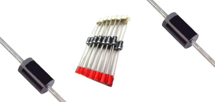 1N4007 PN-Gleichrichterdiode.