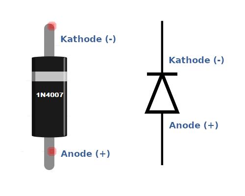Pinbelegung und Funktion von 1N4007.