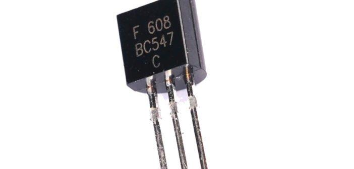 BC547 NPN Bipolartransistor.