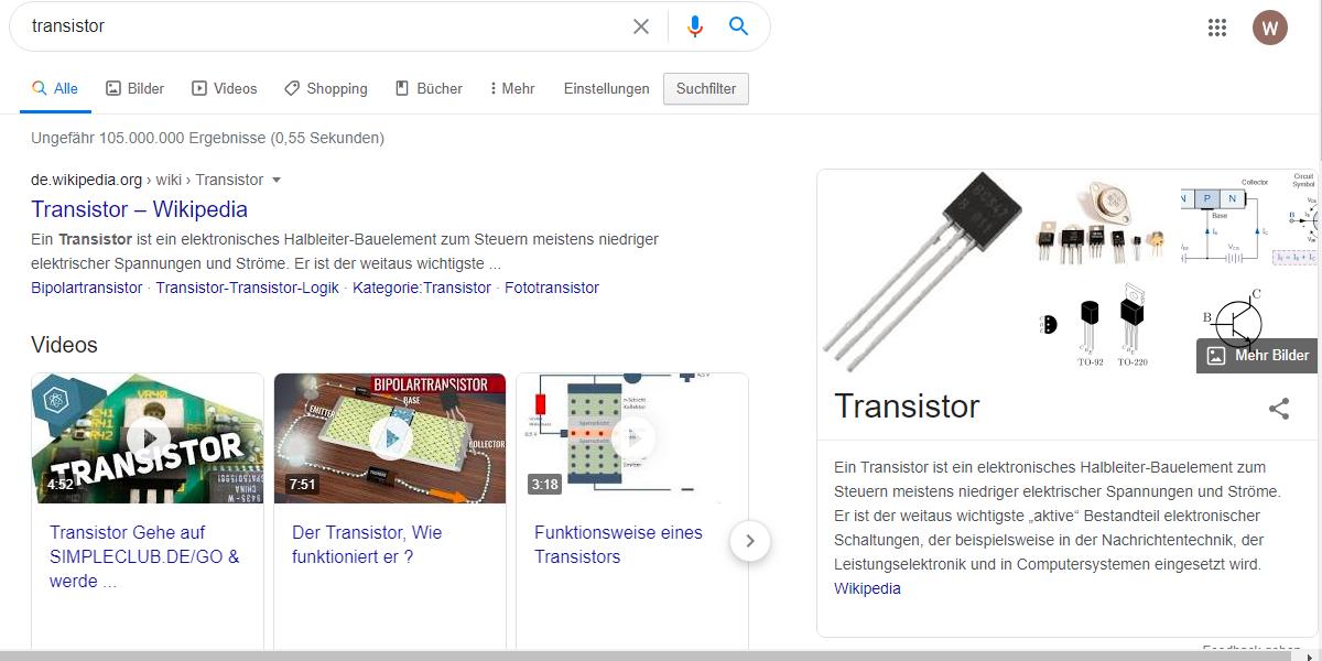 Die Ausgabe einer Google Suche kann als unstrukturierter Datensatz dargestellt werden.
