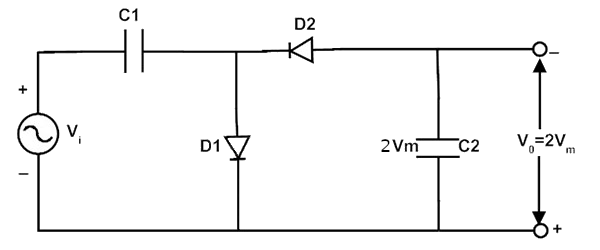 Schaltung eines Spannungs-Multiplikators.