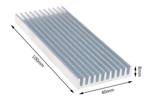 Kühlkörper aus Aluminium für kleinere Lampen aus Highpower LED.