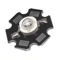 Ein Highpower LED Chip auf Aluminium Sternplatine.