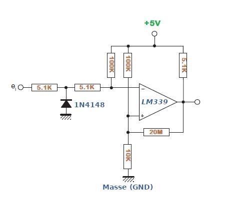Nulldurchgangs-Detektor mit dem LM339.
