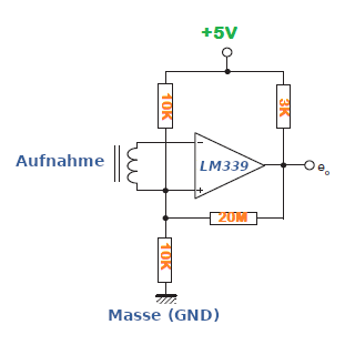 Transducer Verstärker mit dem LM339.