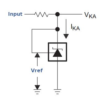 Eine schematische Darstellung der internen Schaltung eines TL341.