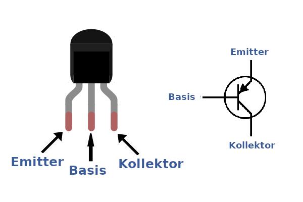 Beschaltung und Konfiguration des 2N-3906.