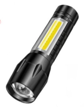 Einfache LED Batterie-Leuchte für den Hausgebrauch.