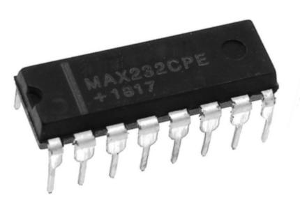 Der MAX232 ist ein IC zur Kommunikation zwischen Mikrocontrollern und Computern.