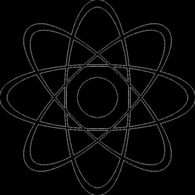 Elektronen bewegen sich um den Atomkern.