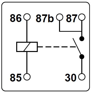Schematische Darstellung eines Relais mit doppeltem Ausgang.