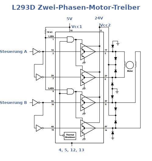 L293D Zwei-Phasen-Motor-Treiber